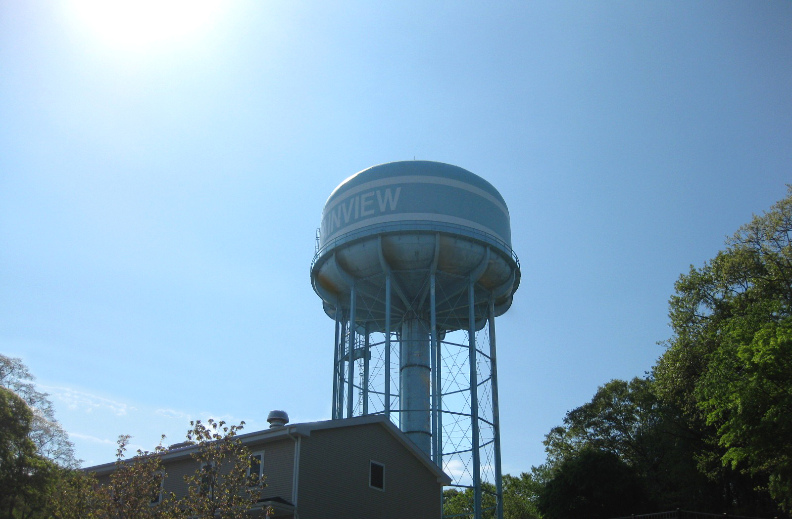Elevated Water Tank : A different kind of spring cleaning repainting elevated